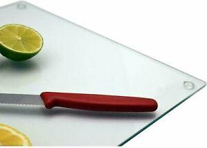 Large Size Glass Worktop Saver Kitchen Chopping Cutting Utensil Board, 40x50cm