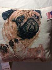 Pug Afghan Throw Pillow Pug Rectangle Pillow Barbra Keith Dog Throw Pillow
