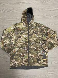 New Men's XL - Under Armour - Brow Tine Hooded Jacket - Forest Camo 1316741-940