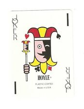 Collectable Hoyle Colourful Head  Single Joker Playing Card