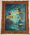 Original Fine art oil painting by Huang Fong, Balinese, 1936-2004