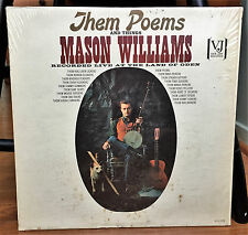 "Folk LP ~ MASON WILLIAMS ""Them Poems"" VEE JAY orig MONO '64 in shrink ~ NM!"