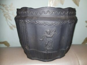 Antique Wedgwood Basalt Jasperware Etruria Jar / pot / tea caddy - unmarked