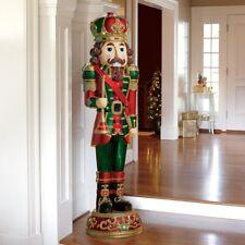 6ft (182.8cm) Resin Indoor/Outdoor Nutcracker 34 LED Lights & Sound Christmas