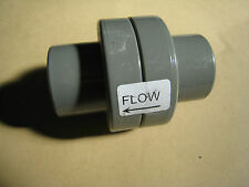 PVC Rückschlagventil federbelastet mit Klebemuffen Wasser Luftventil 32mm neu