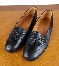 VTG Goodyear Black Dress Shoe Men Size 10 M Enzo Angiolini Oxford Formal Loafers
