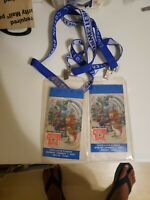 2001 Cotton Bowl Game Ticket and lanyard Kansas State Tennessee Vols (2)