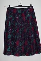 Ladies Navy Blue Skirt with Floral Pattern, By MIA CASSARA, Size 16