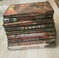 Lot of 9 Horror DVD Movies (All in good to like new condition)