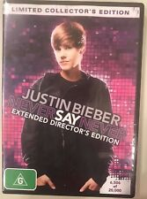 Justin Bieber Never Say Never Limited Collector's Edition (DVD, 2011) R4 PAL NEW
