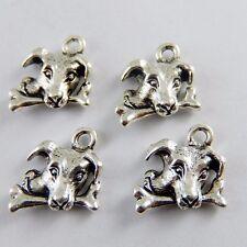 Weinlese Silber Legierung Hund Essen Knochen Anhänger Charme Handwerk 26X 50902