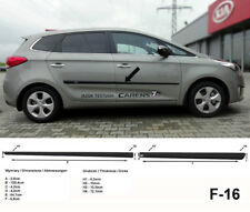 Seitenschutzleisten schwarz für Kia Carens IV Van Kombi 4.Generation ab 03.2013-