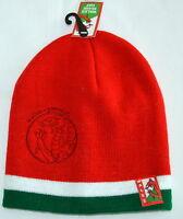 Wales/Cymru RED knitted BEANIE/ SKI HAT - Adult,  Welsh