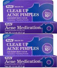 Benzoyl Peroxide 10 % Maximum Strength Acne Medication Gel 1.5 oz each 2 PACK