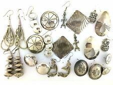 Sterling Silver Native American Beads  Stamped MIXED LOT Variety Post Earrings
