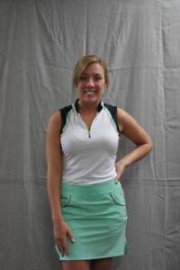 NWT Ladies EP Pro Sport Neon Mint Green Golf Skort - sizes 8 & 12 Empire State