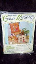"""New listing Vintage Bucilla Country Maids 16"""" Square Pillow Kit #3184 Sealed Needlecraft"""
