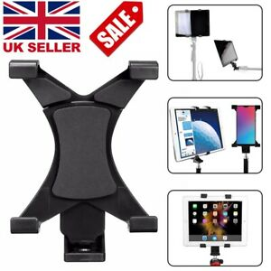 Universal Mobile Phone Tripod Stand Grip Holder 1/4''Mount For  7''~10.1'' iPad