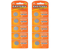 10 x CR1620 3V Lithium Knopfzelle 70 mAh ( 2 Blistercard a 5 Batterien )EASTCELL