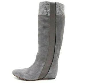 TSUBO gray suede leather knee high boots size 6 S / N EU 37 $245