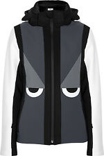 Fendi Black, Gray & White Creatures Hooded Ski Jacket IT 46, U.K 14, U.S 10 EUC