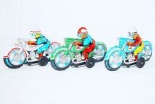 3x Modern Toys Japan POLICE & RACING MOTORCYCLE 10cm Tin Friction Toy Mint `68