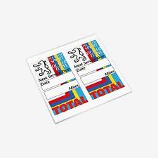 Peugeot Sport Dealer Team Service Reminder Sticker Set Classic 106 205 GTI