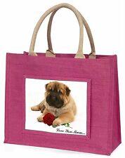 Shar-Pei+Rose 'Love You Mum' Large Pink Shopping Bag Christmas Pr, AD-SH2RlymBLP