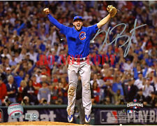 Kris Bryant Chicago Cubs 2016 MLB World Series Champs Signed 8x10 Last Out Photo