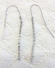 Crystal Rhinestone Link Threader earrings