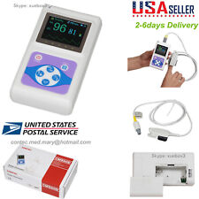 FDA Handheld Finger Tip Pulse Oximeter,SPO2 Monitor, Adult Probe CONTEC US USPS