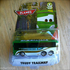 Disney Planes TRUDY TRAILWAY Piston Peak Theme diecast big tour bus green white