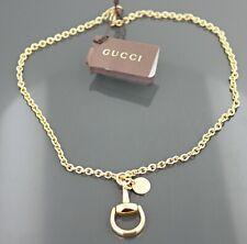 Gucci Horsebit 18K Yellow Gold Necklace