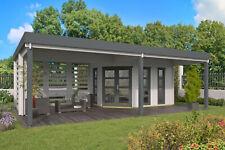 40 mm Gartenhaus ISO 785x510 cm Blockhütte Holzhaus Hütte Holz Unterstand Anbau