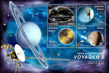 GHANA - 2016 - SPACE - 30TH ANNIVERSARY OF VOYAGER 2 SHEET OF 4 STAMPS MNH