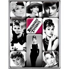 Set di 9 Magneti Vintage Design Mod. Audrey Hepburn, calamite fantastiche!