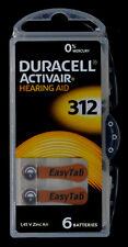 60 Hörgeräte Typ A312 Duracell Knopfzellen Batterien battery Knöpfzellen 1,45V