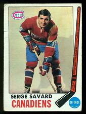 1969-70 TOPPS HOCKEY #4 Serge Savard VG RC MONTREAL CANADIENS ROOKIE card