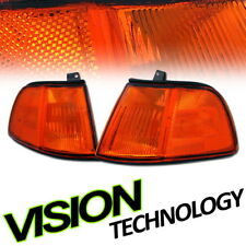 JDM Sport Amber Turn Signal Parking Corner Lights Lamps 90-91 Honda Civic 2D/3D