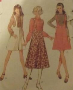 Original Vintage 1970 Outfits Dressmaking Pattern- Style 2886