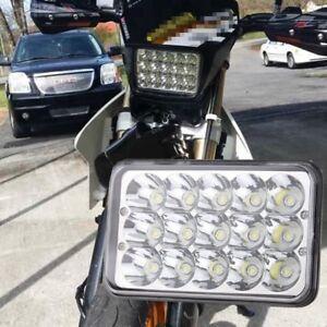 """1X LED Headlight For Honda XR250 XR400 XR650 Suzuki DRZ 4""""x6"""" Head Light Bulb US"""
