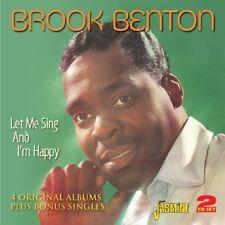 BROOK BENTON - LET ME SING & I'M HAPPY 2 CD NEUF