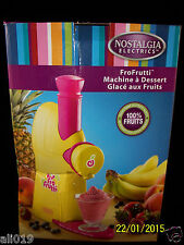 Nostalgia Electrics FFT100 Frozen Fruit Dessert Maker  Machine Very Clean Used