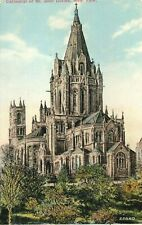 Antique Postcard, Cathedral of St John Divine, New York City, NY, *
