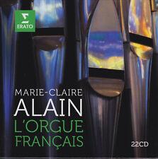 MARIE-CLAIRE ALAIN - L'ORGUE FRANCAIS Couperin Grigny Messiaen 22 CDs, sehr gut