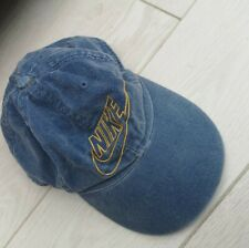 Vintage 80's Nike Baseball Cap denim Light Blue