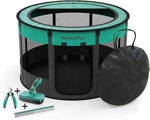 Meisterpet® Welpenauslauf Welpenlaufstall Tierlaufstall für Hunde/ Katzen