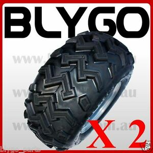 2X 22X10 - 10 inch Rear Wheel Rim Tyre Tire 150c 250cc Quad Dirt Bike ATV Buggy
