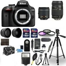 Nikon D3400 Digital Camera + 18-55mm + 70-300mm + Accessory Bundle