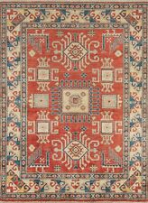 """Momeni Heirlooms Kazak Hand Knotted Wool Red Area Rug 4'9"""" X 6'6"""""""